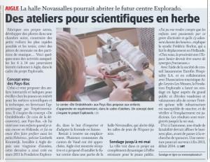 Le Nouvelliste 3 mai 2012